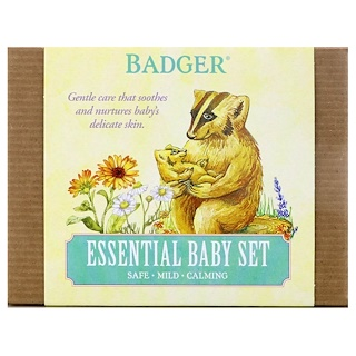 Badger Company, Essential Baby Set, 3 Piece Set