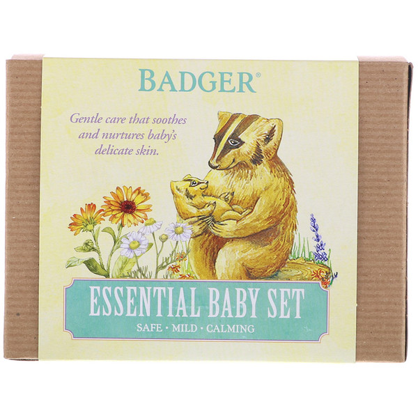 Badger Company, Essential Baby Set, 3 Piece Set (Discontinued Item)
