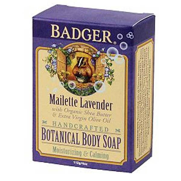 Badger Company, Botanical Body Soap, Maillette Lavender, 4 oz (112 g) (Discontinued Item)