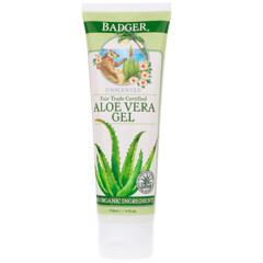 Badger Company, 蘆薈凝膠,無香味,4液量盎司(118毫升)