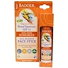 Badger Company, Kids Zinc Oxide Sunscreen All Season Face Stick, SPF 35, Tangerine & Vanilla, .65 oz (18.4 g)