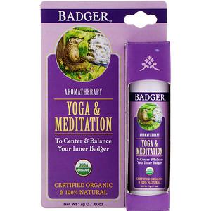 Бадгер компания, Yoga & Meditation, Cedarwood & Mandarin, .60 oz (17 g) отзывы покупателей