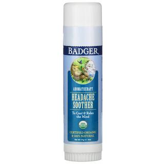 Badger Company, علاج عطري، معالج الصداع، النعناع الفلفلي والخزامى، 60 أونصة (17 جم)