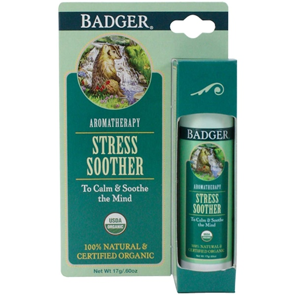 Badger Company, Stress Soother, Tangerine & Rosemary, .60 oz (17 g)
