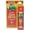 Badger Company, チアフル・マインド・バーム、スィートオレンジ & スペアミント、 .60 オンス(17 g)