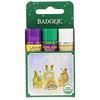 Badger Company, リップバームギフトセット (緑), 3パック, 各0.15オンス (4.2 g)