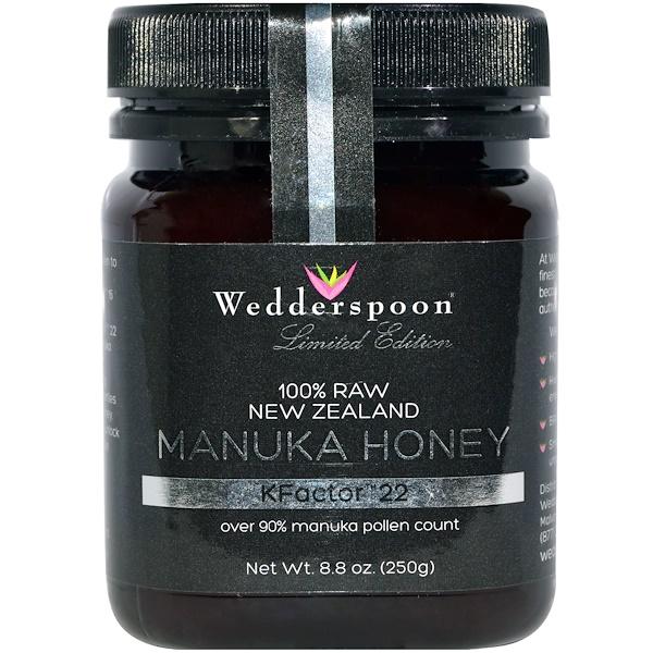 Wedderspoon, 100%未加工マヌカハチミツ、 KFactor 22、8.8オンス (250 g) (Discontinued Item)