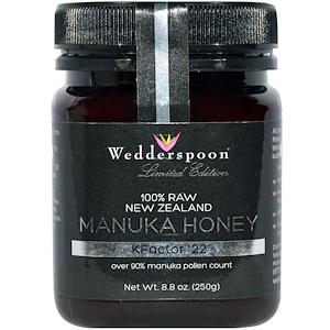 Wedderspoon, 100% необработанный мед Манука, KFactor 22, 8,8 унций (250 г)