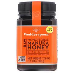 Wedderspoon, Raw Monofloral Manuka Honey, KFactor 16, 17.6 oz (500 g)