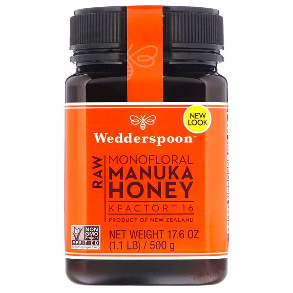Wedderspoon, Raw Monofloral Manuka Honey, KFactor 16, 1.1 lb (500 g)