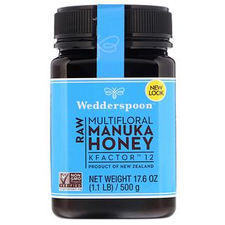 Wedderspoon, 100% Raw Manuka Honey, KFactor 12, 17.6 oz (500 g)