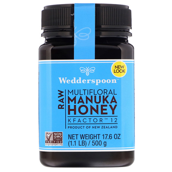 Wedderspoon, Raw Multifloral Manuka Honey, KFactor 12, 17.6 oz (500 g)