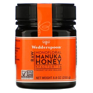 Wedderspoon, Raw Monofloral Manuka Honey, KFactor 16, 8.8 oz (250 g)