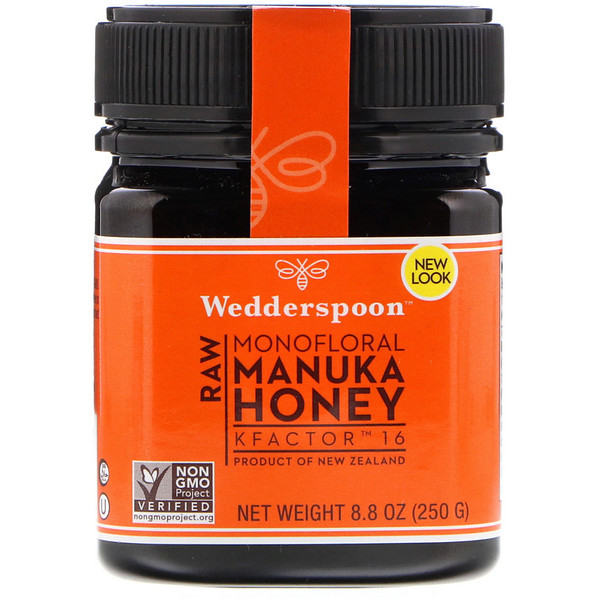Wedderspoon, Raw Monofloral Manuka Honey, KFactor 16, 8.8 oz (250 g)