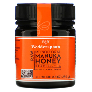 Веддерспун, Raw Monofloral Manuka Honey, KFactor 16, 8.8 oz (250 g) отзывы