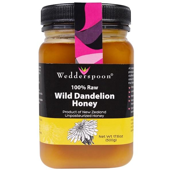 Wedderspoon, 100% Raw Wild Dandelion Honey, 17.6 oz (500 g) (Discontinued Item)