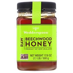 Wedderspoon, Raw Beechwood Honey, 17.6 oz (500 g)