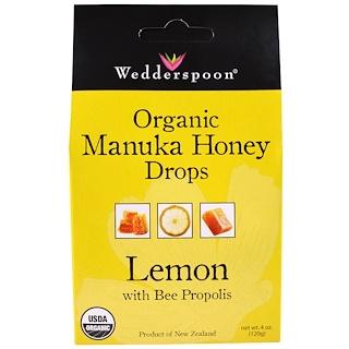 Wedderspoon, 유기농 마누카 허니 드롭, 밀랍 첨가 유칼립투스, 4 oz (120 g)