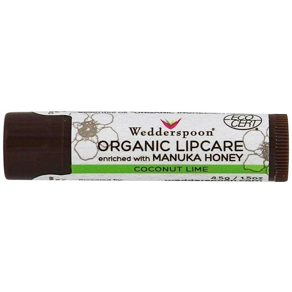 Wedderspoon, Organic Lipcare, Coconut Lime, 0.15 oz (4.5 g) (Discontinued Item)