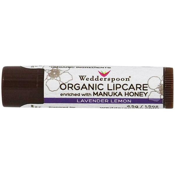 Wedderspoon, Organic Lipcare, Lavender Lemon, 0.15 oz (4.5 g)