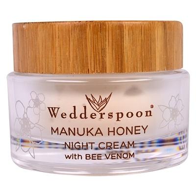 Wedderspoon 含蜂毒的麥盧卡蜂蜜晚霜,1.7液盎司(50毫升)