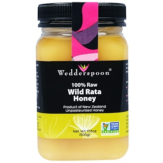 Wedderspoon, 100% خام، عسل الراتا البري، 17.6 أونصة (500 غ)