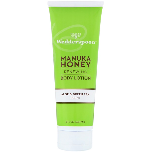 Wedderspoon, Manuka Honey, Renewing Body Lotion, Aloe & Green Tea Scent, 8 fl oz (240 ml)