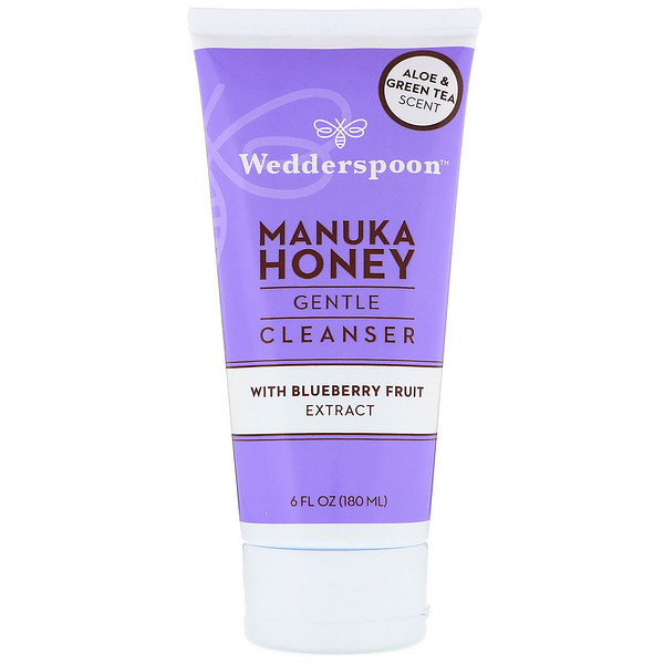 Wedderspoon, Manuka Honey, Gentle Cleanser, With Blueberry Fruit Extract, Aloe & Green Tea Scent, 6 fl oz (180 ml)