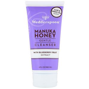 Веддерспун, Manuka Honey, Gentle Cleanser, With Blueberry Fruit Extract, Aloe & Green Tea Scent, 6 fl oz (180 ml) отзывы
