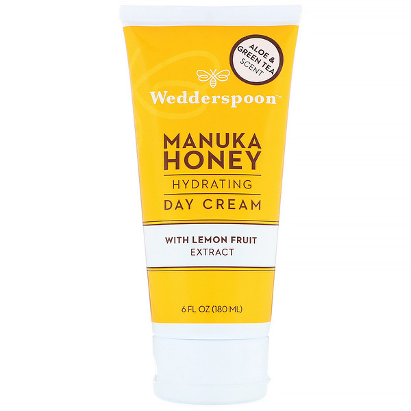 Wedderspoon, Manuka Honey, Hydrating Day Cream with Lemon Fruit Extract, Aloe & Green Tea Scent, 6 fl oz (180 ml) (Discontinued Item)
