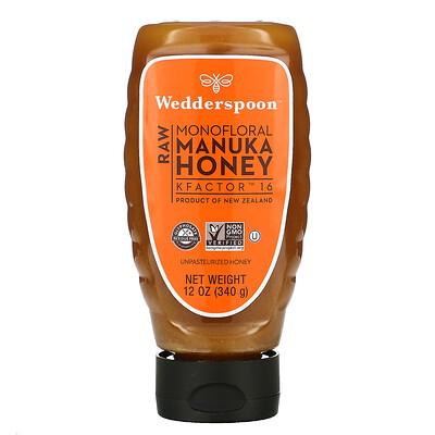 Wedderspoon Raw Manuka Honey, KFactor 16, 12 oz (340 g)