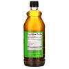 Wedderspoon, モノフローラルマヌカハニー配合生アップルサイダービネガー、750ml(25液量オンス)