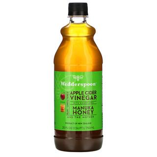 Wedderspoon, Raw Apple Cider Vinegar with Monofloral, Manuka Honey, 25 fl oz (750 ml)