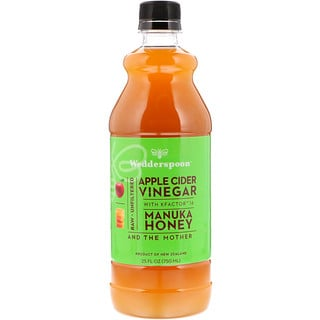 Wedderspoon, Apple Cider Vinegar with KFactor 16, Manuka Honey, 25 fl oz (750 ml)