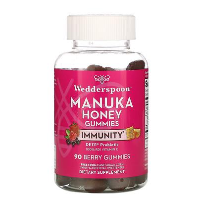 Купить Wedderspoon Manuka Honey, Immunity Gummies, Berry, 5 Billion CFU, 90 Gummies