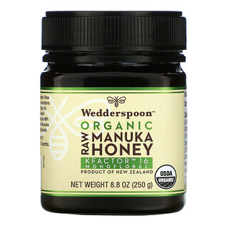 Wedderspoon, Organic Raw Manuka Honey, KFactor 16, 8.8 oz (250 g)