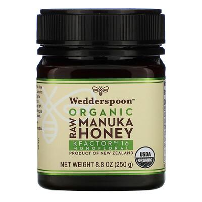 Wedderspoon Organic Raw Manuka Honey, KFactor 16, 8.8 oz (250 g)