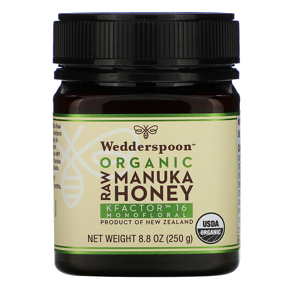 Wedderspoon, Organic Raw Manuka Honey, KFactor 16, 8.8 oz (250 g)