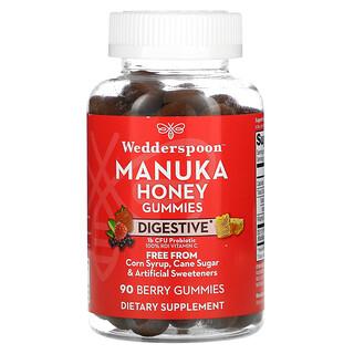 Wedderspoon, Manuka Honey Gummies, Digestive, Berry, 90 Gummies