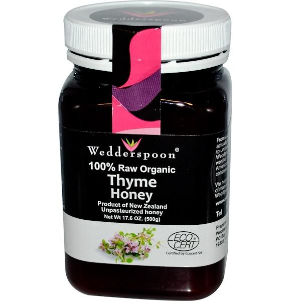Wedderspoon, 100% Raw Organic Thyme Honey, 17.6 oz (500 g) (Discontinued Item)