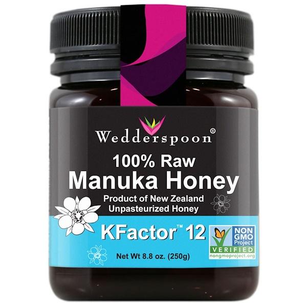 Wedderspoon, 100% Raw Manuka Honey, KFactor 12, 8.8 oz (250 g) (Discontinued Item)