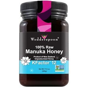 Веддерспун, 100% Raw Manuka Honey, KFactor 12, 17.6 oz (500 g) отзывы