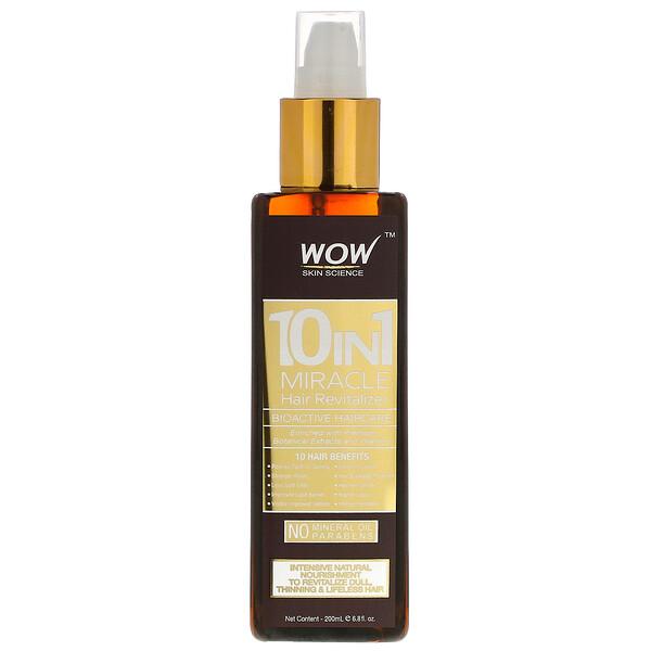 Wow Skin Science, معزز الشعر المعجزة 10 في 1، 6.8 أونصة سائلة (200 مل)