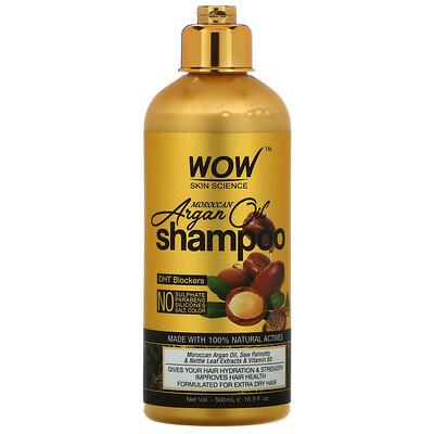Wow Skin Science Moroccan Argan Oil, шампунь с марокканским аргановым маслом, 200мл (16,9жидк.унции)