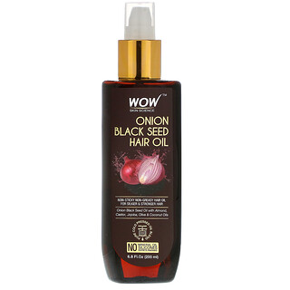 Wow Skin Science, Onion Black Seed Hair Oil, 6.8 fl oz (200 ml)