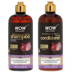 Wow Skin Science, 紅洋蔥/栽培黑種草洗髮水/護髮素套裝,2 件套