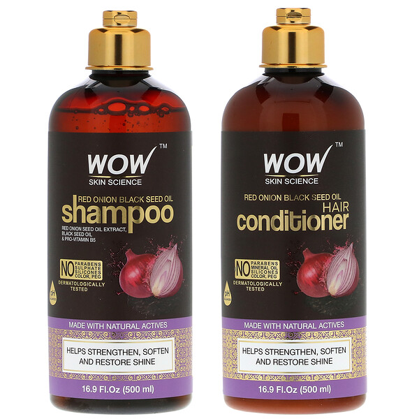 Red Onion Black Seed Oil Shampoo +  Hair Conditioner, 2 Piece Kit