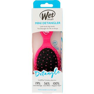 Wet Brush, ミニデタングラーブラシ、ピンク、1本