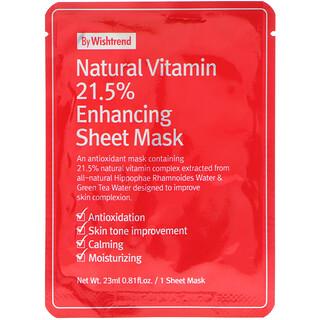 Wishtrend, Natürliche Vitamin 21,5% Verbesserung Sheet Mask, 1 Maske, 0,81 fl oz (23 ml)