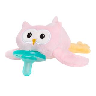 WubbaNub, Infant Pacifier, 0-6 Months, Pink Owl, 1 Pacifier